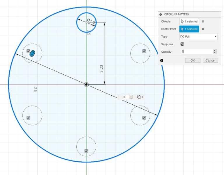 Fusion 360 Tutorial-Circular Pattern-Rectangular Pattern 6
