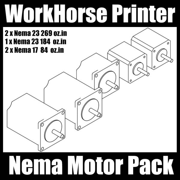 WorkHorse Printer Nema Motor Pack