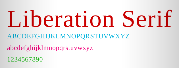 liberation-serif-font