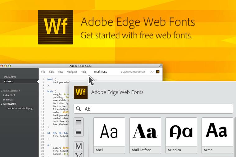 Si te gustan las fuentes, mira Adobe free Edge Web Fonts