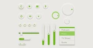 green-ui-kit-psd