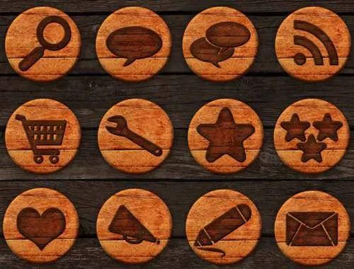 Pack iconos redes sociales en madera