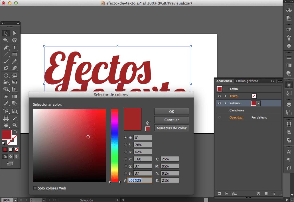 Efecto texto illustrator 02