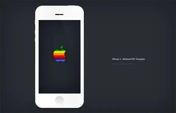 Mockup minimalista gratis del iPhone 5 en PSD