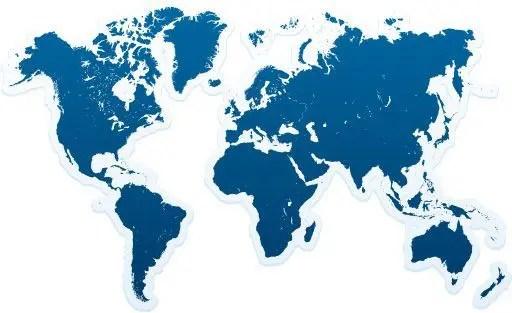 Mapas en vectores gratis