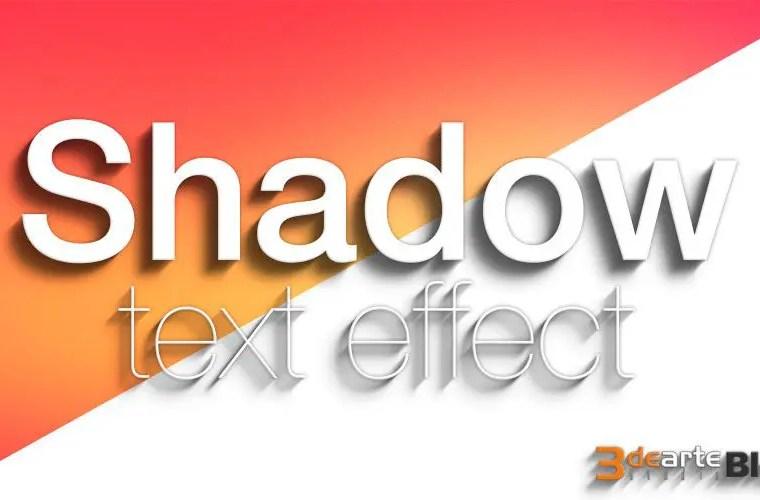Efecto de sombra para Photoshop. Acción incluída
