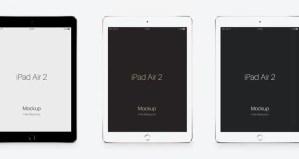 iPad Air 2 mockup PSD