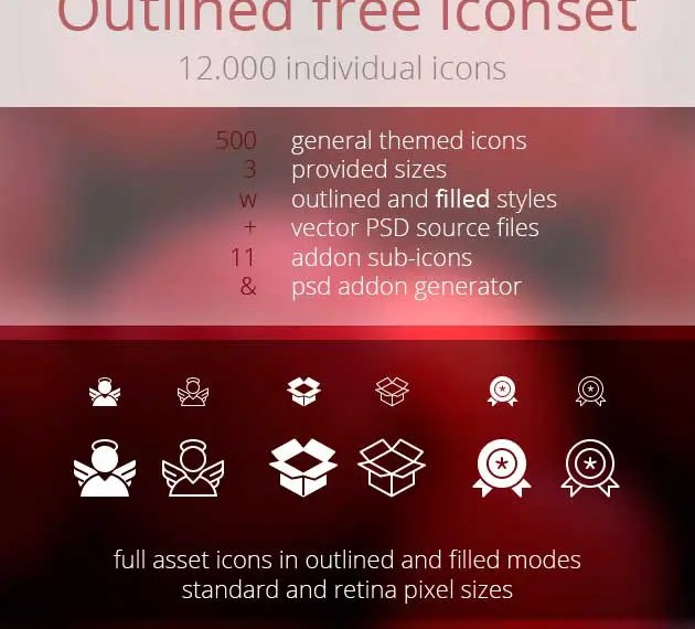 Set de 12.000 iconos gratis