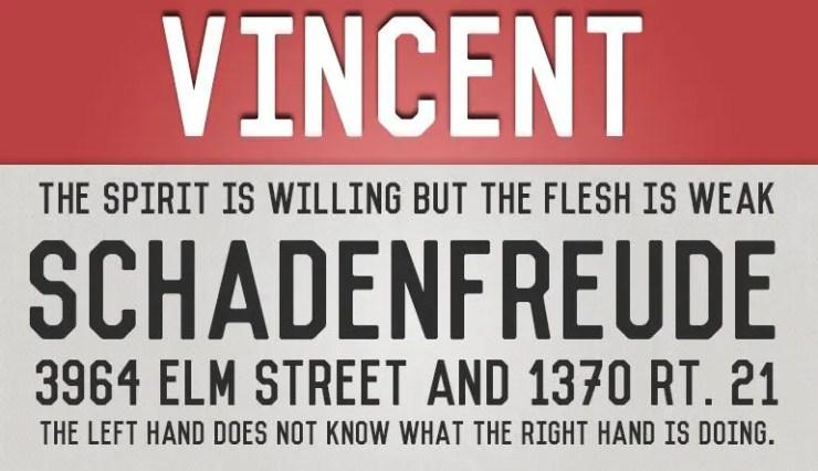 Vincent fuente gratis