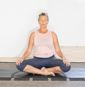 three deep breaths easy pose