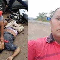 Motociclista morre ao colidir contra carreta bitrem na Av. Marinho Monte, em Brasileia
