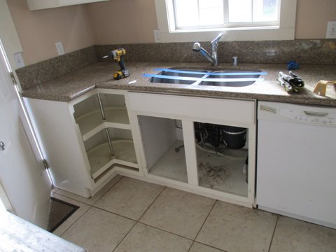 water damage to complete kitchen remodel 3d environmental