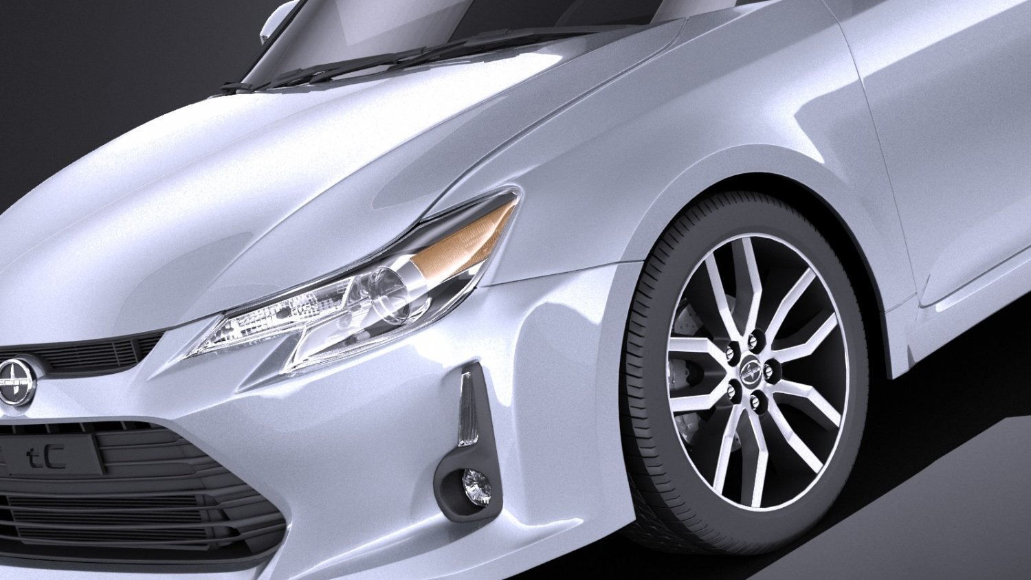 hight resolution of scion tc 2016 vray modelo 3d