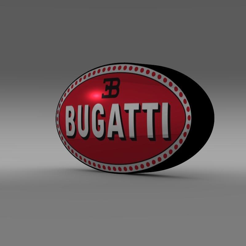 bugatti logo 3d model