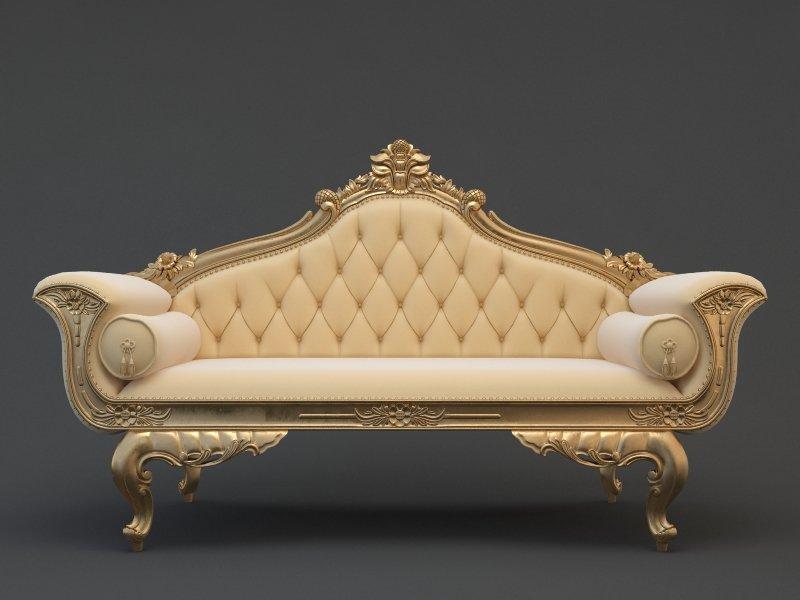 wedding sofa dark grey leather dfs cnc 3d model in 3dexport
