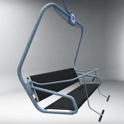 Buy Ski Lift Chair Round And A Half Canada 3d Model In Sports Equipment 3dexport