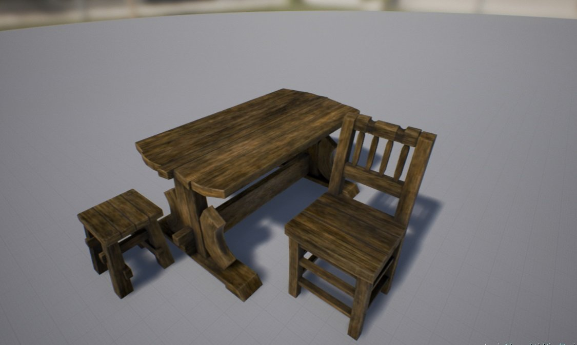 old wood chairs fashioned rocking chair neopets table tabouret 3d model in stool