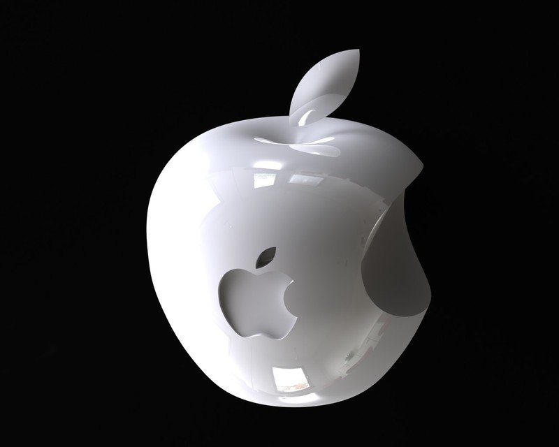 logo apple 3d model