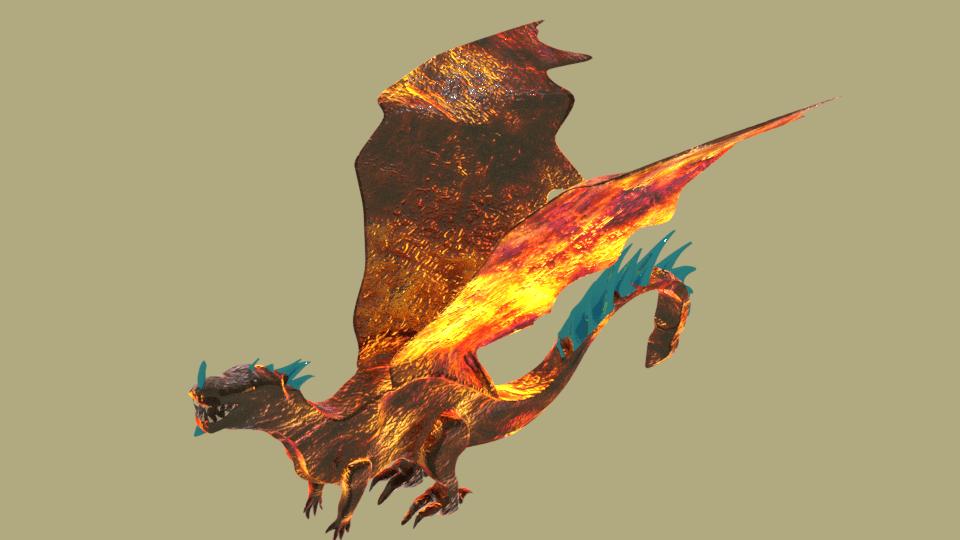 3d lava dragon 3d