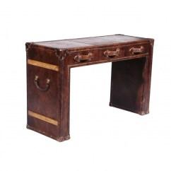 Halo Kensington Leather Sofa Royal Blue Velvet Tufted Slab Dressing Table - Desks And Tables ...