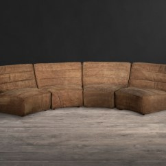 Leather Round Sofas Manufacturers What Colour Carpet Goes With Dark Grey Sofa And Fabric Shabby Curved Timothy Oulton