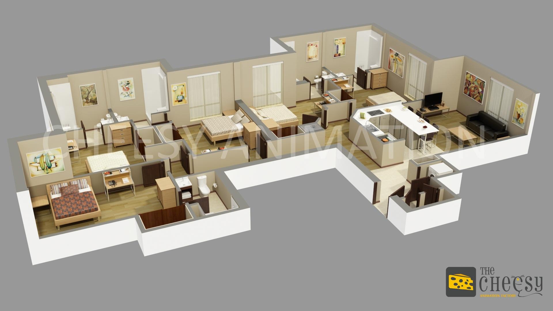 3D Floor Plan For House