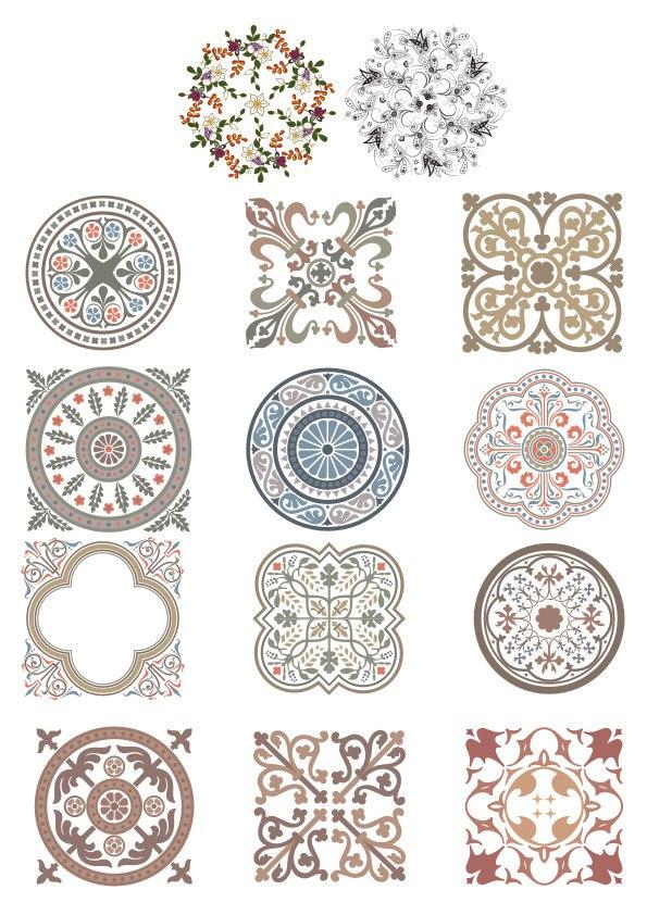 Ornament Islamic Vector Cdr : ornament, islamic, vector, Vintage, Ornaments, Vector, Download