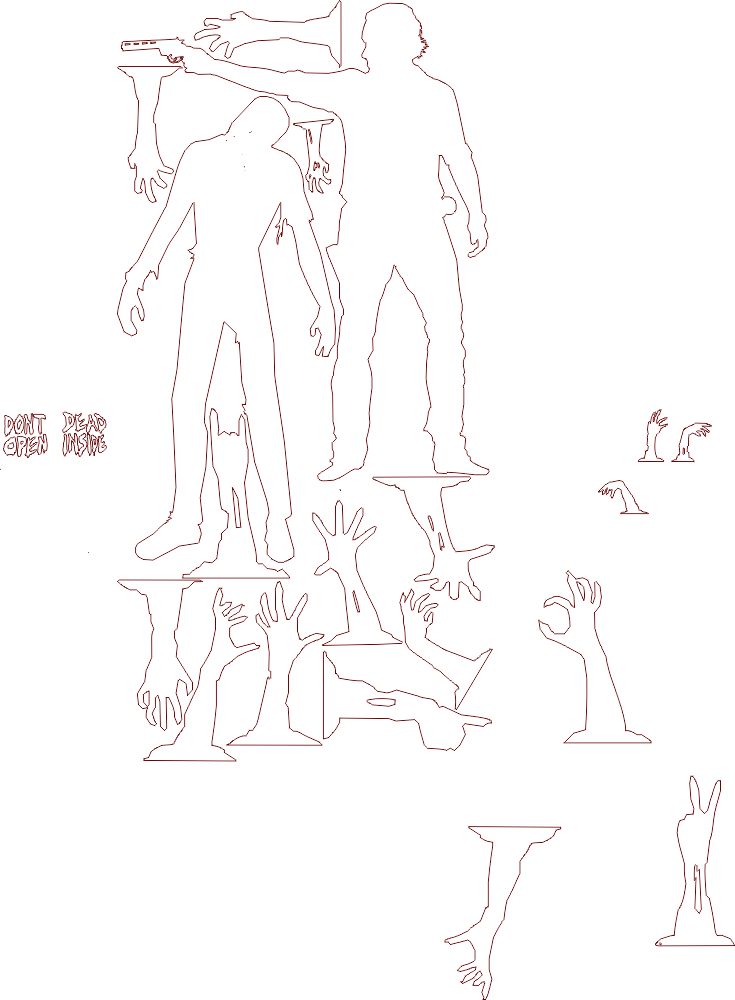 Zombie Collection DXF File (CAD Type) File Free Download