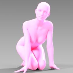 Kneeling Pose 002