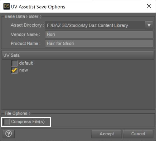 UV Assets Save Option