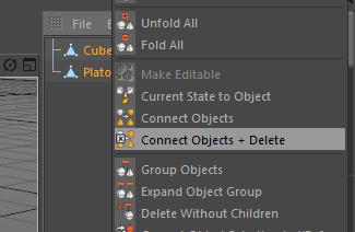 Usando el comando Connect + Delete