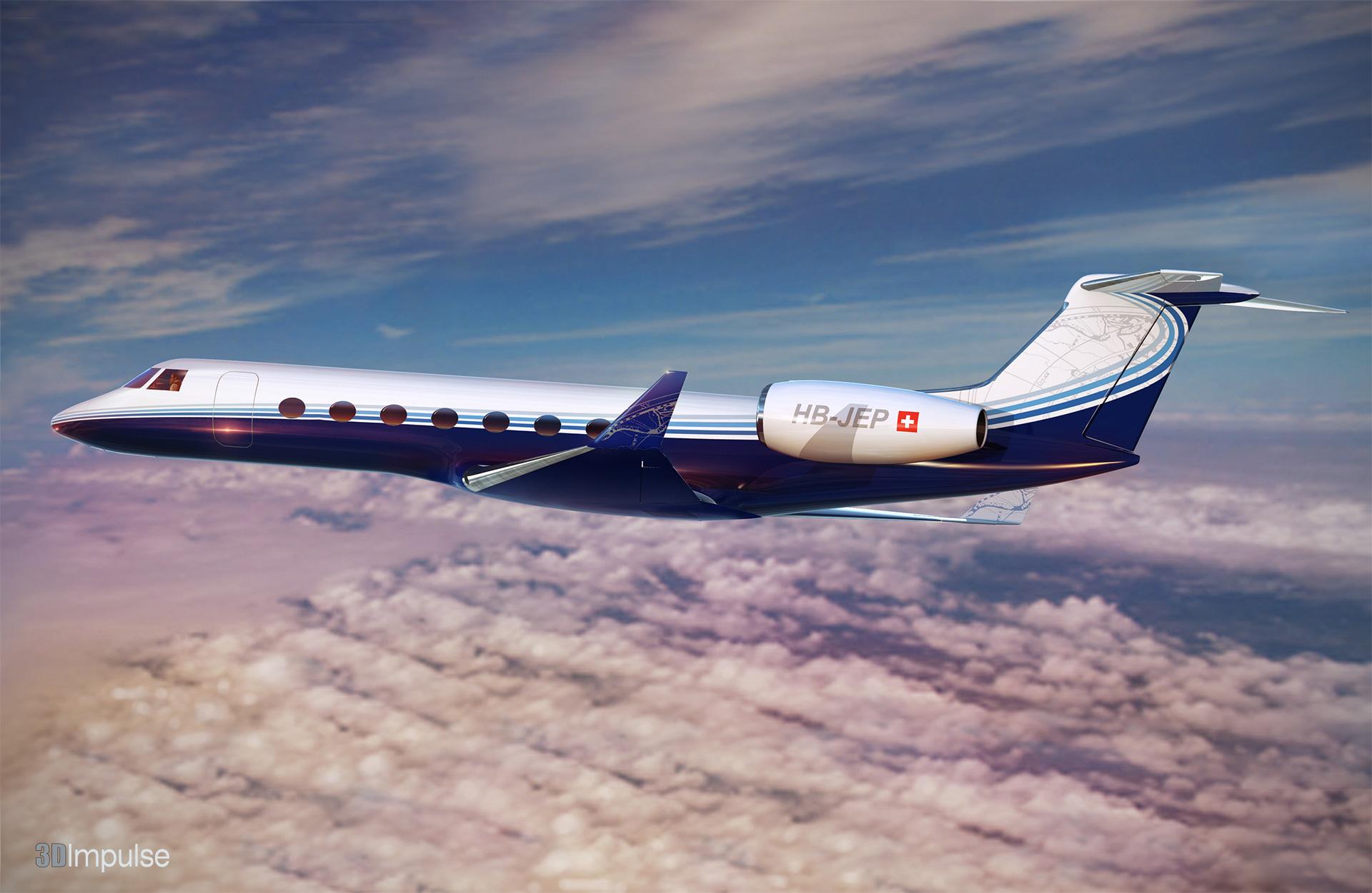 Gulfstream Exterior Paint Scheme  3d Impulse