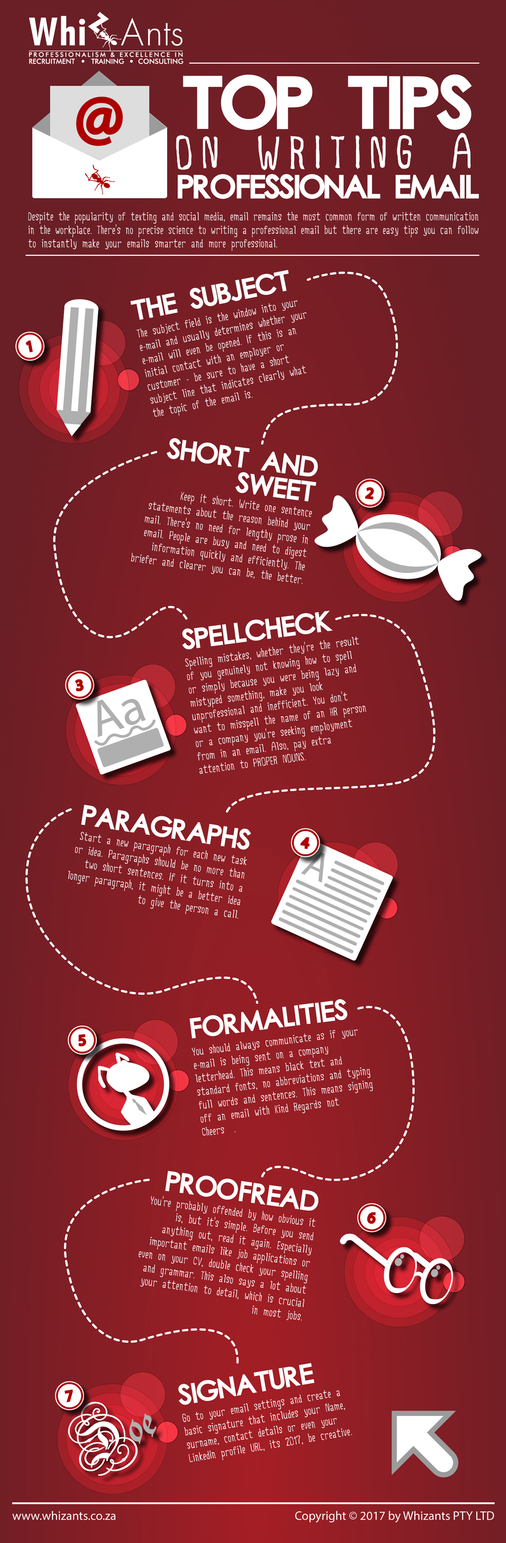 writing a professional email infographic