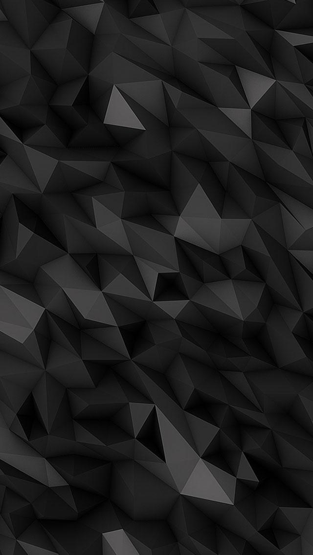 3d Black Polygons Wallpaper Iphone  3d Iphone Wallpaper
