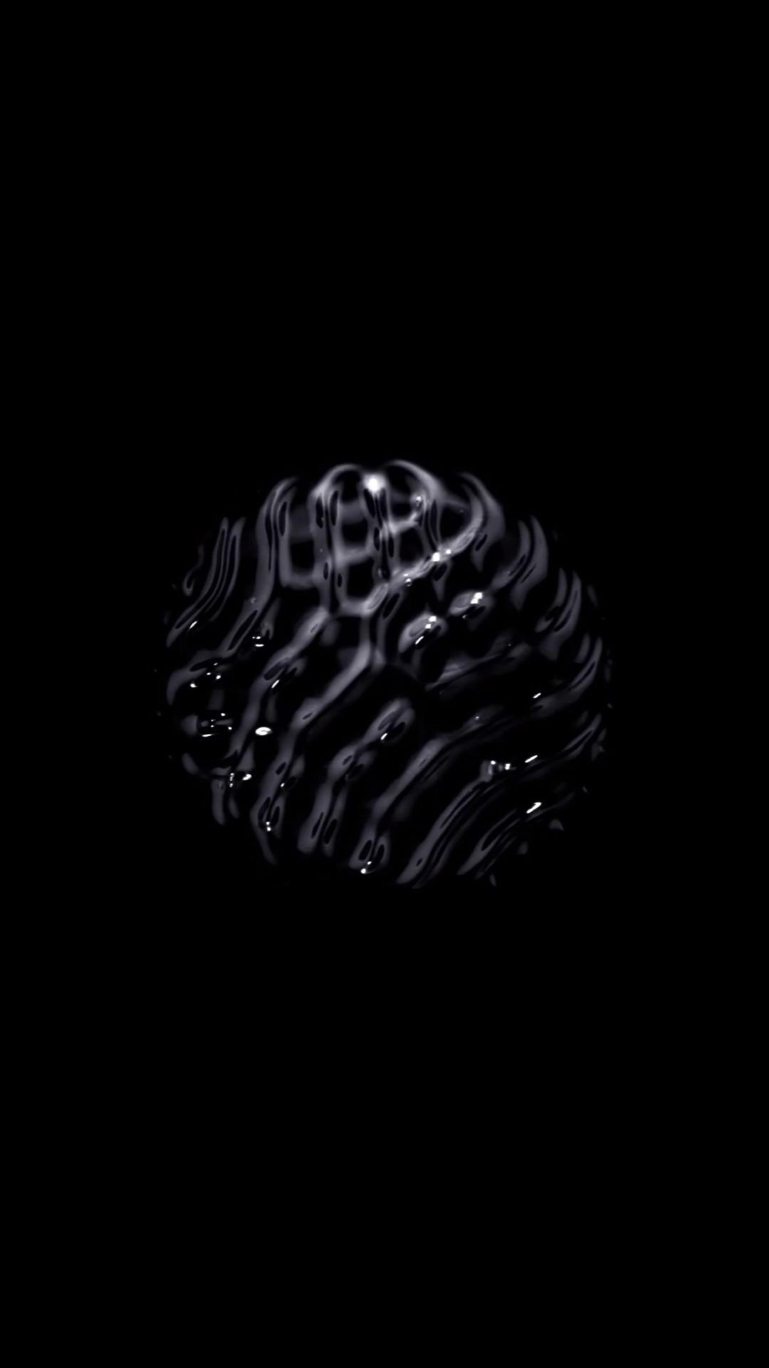 3d black wallpaper iphone
