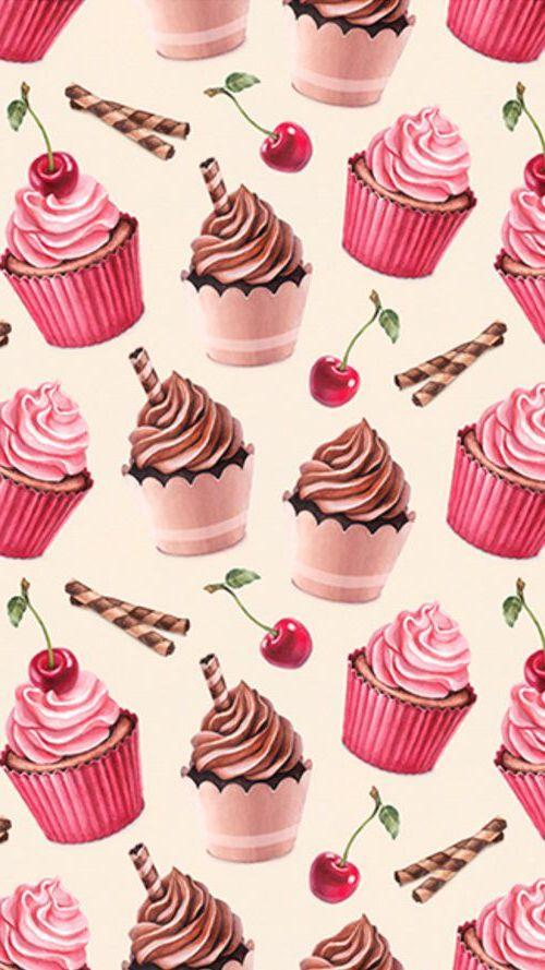 Cute Strawberry Iphone Wallpaper Cherry Cupcake Wallpaper Iphone 7 2019 3d Iphone Wallpaper