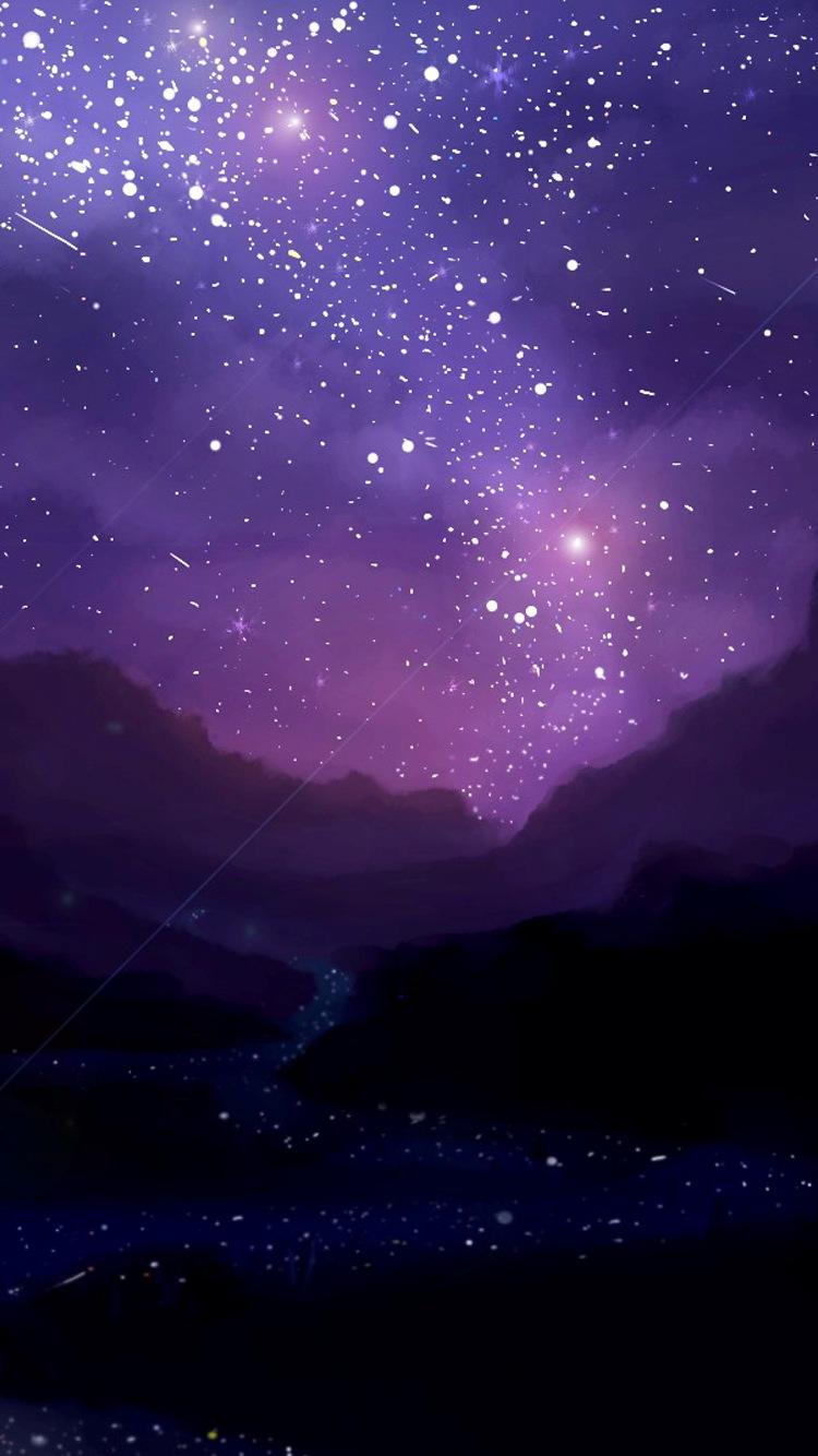 Night Iphone Stars Wallpaper  3d Iphone Wallpaper