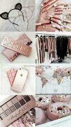 Rose Gold Lock Screen Cute Wallpaper Parede Cinza