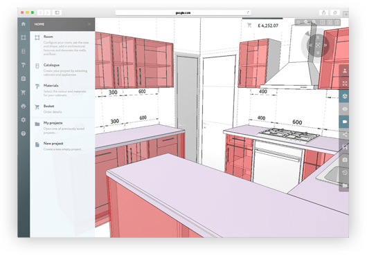 easy kitchen design software free download what to use clean cabinets 3d planner : a online - and easy.