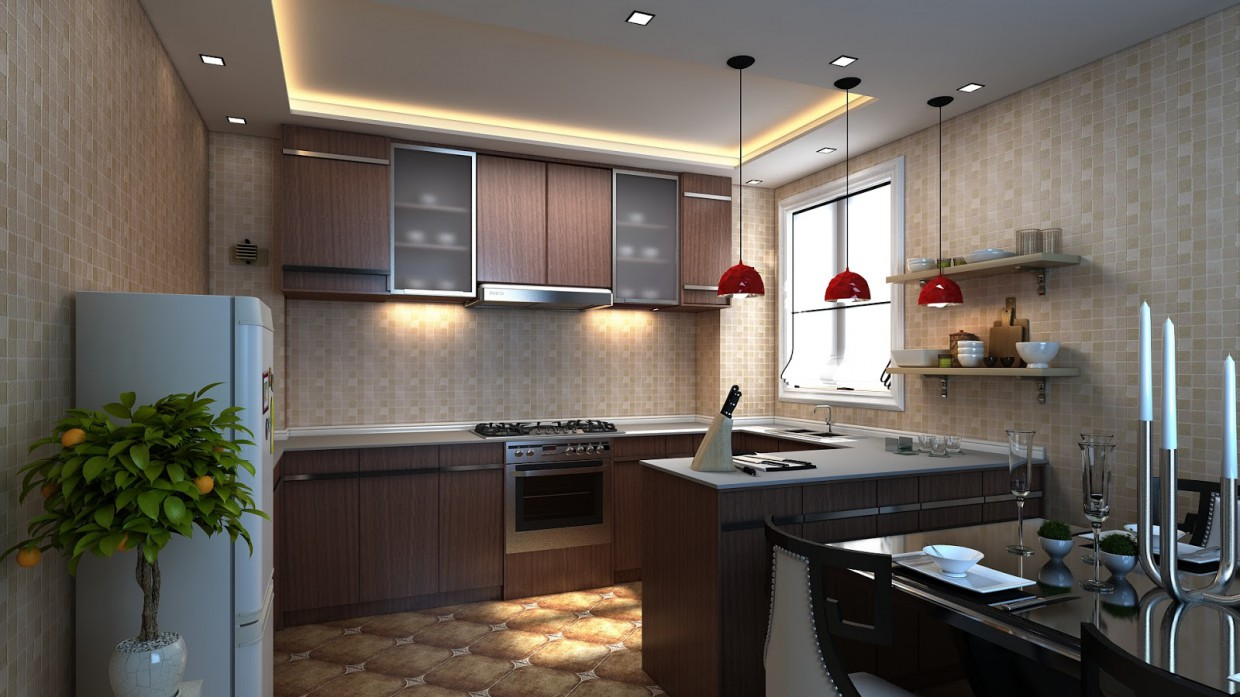 Kitchen Design 3d visualization and design work in 3D