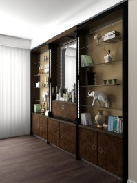 Wardrobe for the living room design and visualization