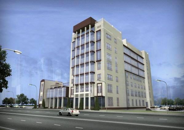 3D Render Office Building