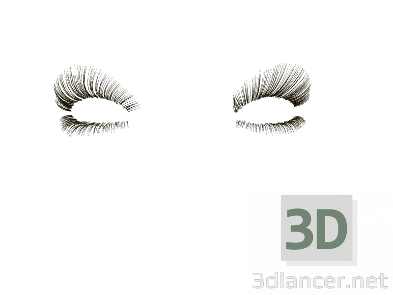 3d model Eyelashes available for download in formats:max