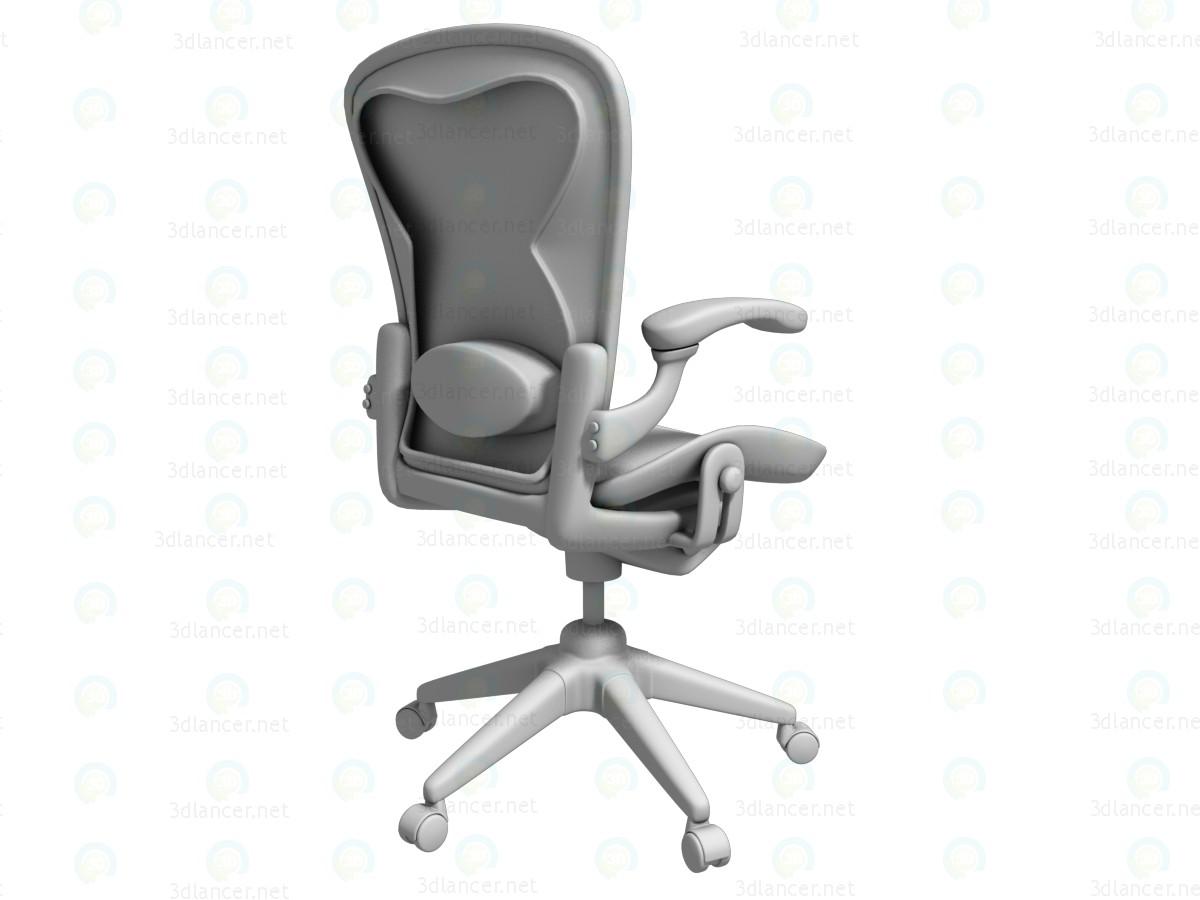 xxl desk chair medline shower parts 3d модель Стул офисный скачать бесплатно