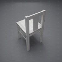 3d model kids chair kritter style Scandinavian download ...