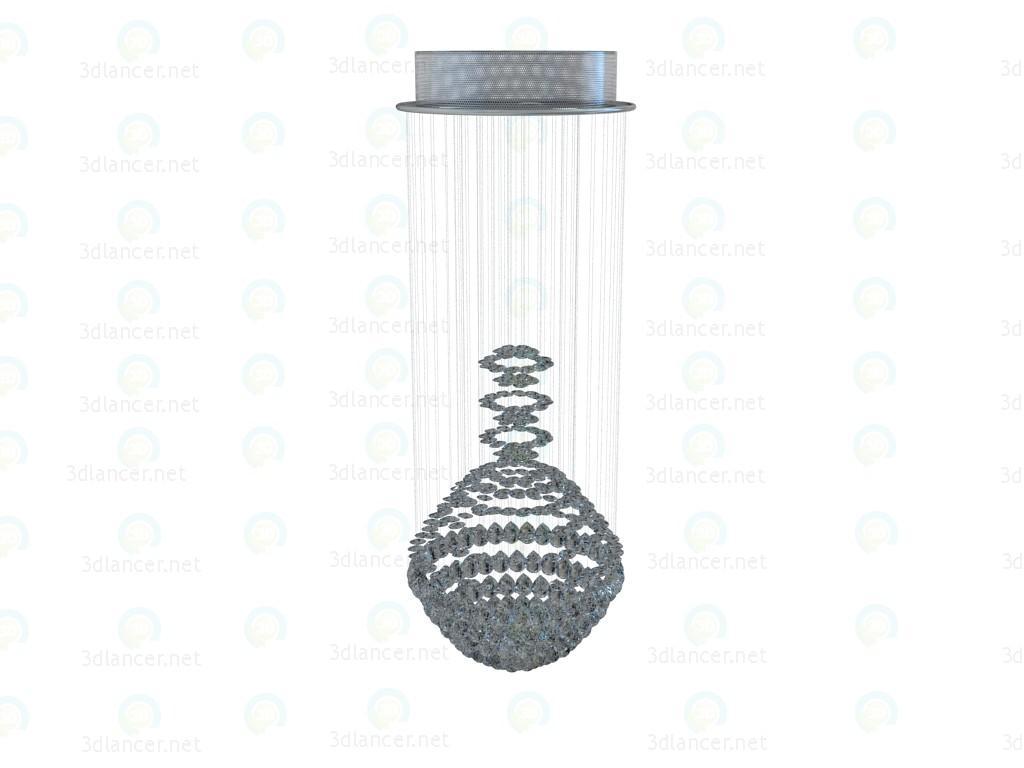 3d Model Diamonds Falling Chandelier Bulb Manufacturer