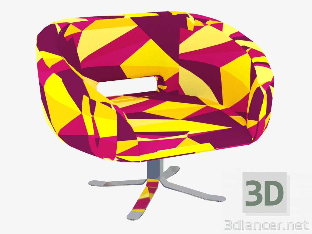 revolving chair with net ikea cube covers 3d model rotating rive droite manufacturer