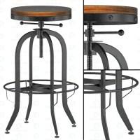 3d model Industrial Vintage Bar Stool, Black download to ...