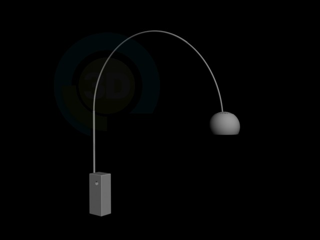 3d model High tech floor lamp style Country download for free