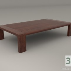 Japanese Table And Chairs Circle Furniture 3d Model Low